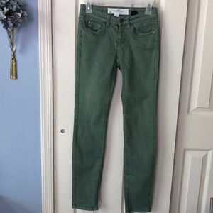 H&M L.O.G.G. Green size 4 skinny jeans